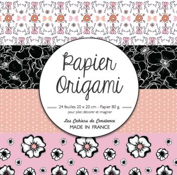 Origami (rose & noir)