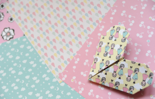 Origami pastel