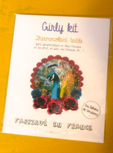 Girly Kit « Paon » (thermocollant)