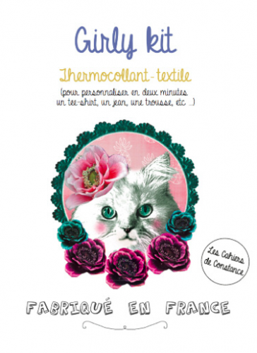 Girly kit «Chat» (thermocollant)