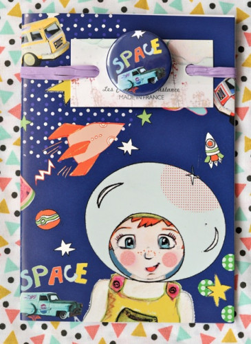 Carnet badgé «Space boy»