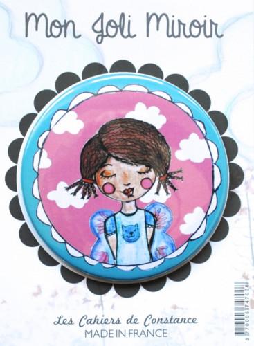 Miroir de poche «Miss rêveuse»