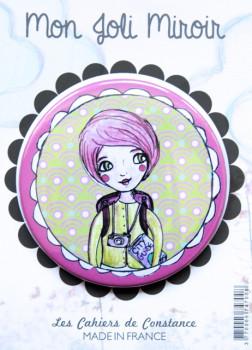 Miroir de poche «Miss Vadrouille»