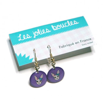 Boucles lapin violet