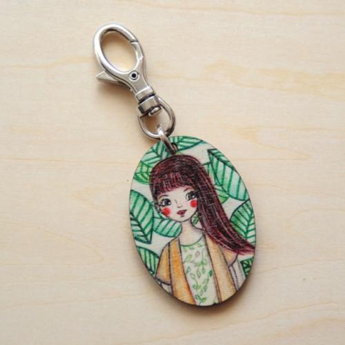 Porte-clés bois Olivia