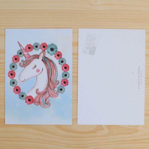 Carte postale Licorne