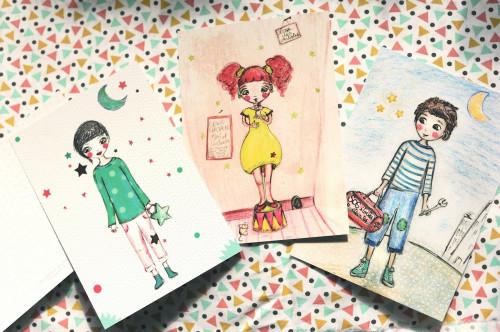 Trois jolies cartes