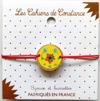 Bracelet floral jaune