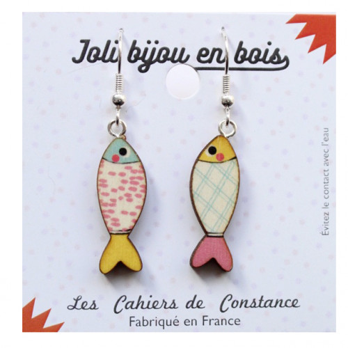 Boucles poisson Pop pastel