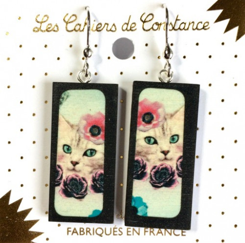 Boucles rectangle Chat