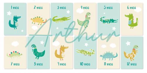Tableau cartes étapes «Croco-Dino»