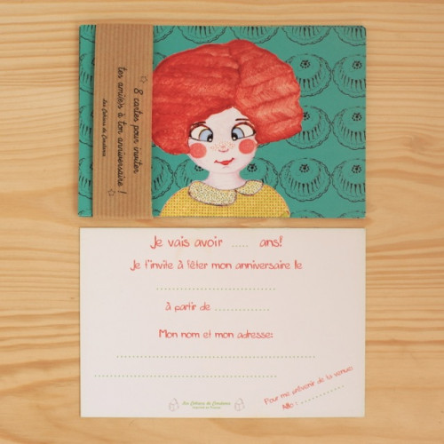 8 invitations Miss'Chou