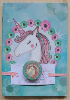 Carnet badgé Licorne