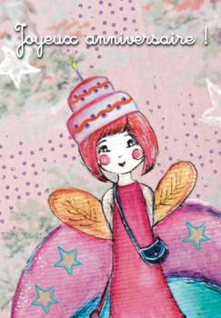Carte «Joyeux anniversaire !» fille