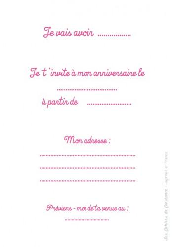 8 cartes d'invitation Sirène