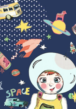 Carte « Space boy »