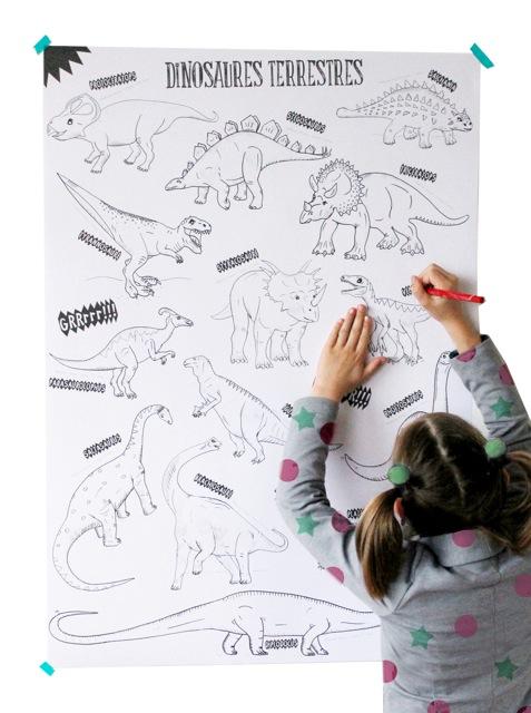 Colo géant : dinosaures - Lescahiersdeconstance