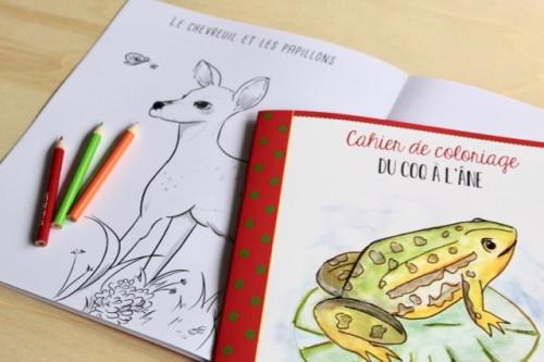 Coloriage Du coq à l'âne