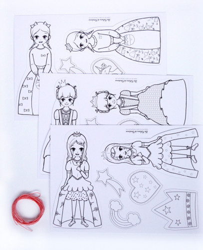 Guirlande à colorier Princesses
