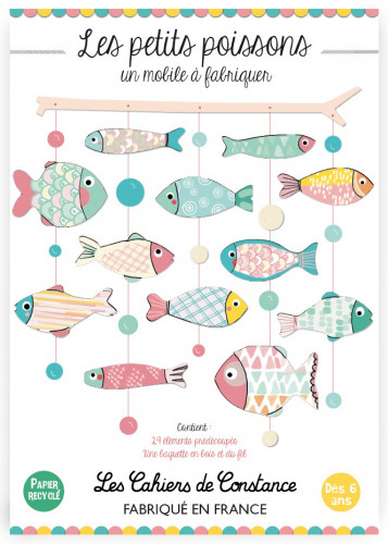 Mobile poissons «Pop pastel»